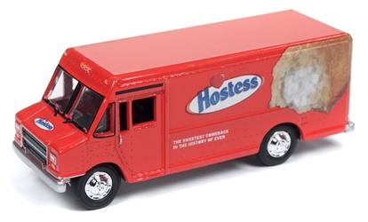 Hostess - 1990s GMC Step Van Delivery Truck in Red 1/87 HO Scale