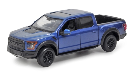 2017 Ford F-150 Raptor in Blue 1:27 by Motor Max Item Number: MMX79344-BL