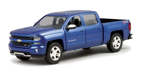 2017 Chevrolet Silverado 1500 LT Z71 Crew Cab in Metallic Blue 1:27 by Motor Max Item Number: MMX79348-MBL