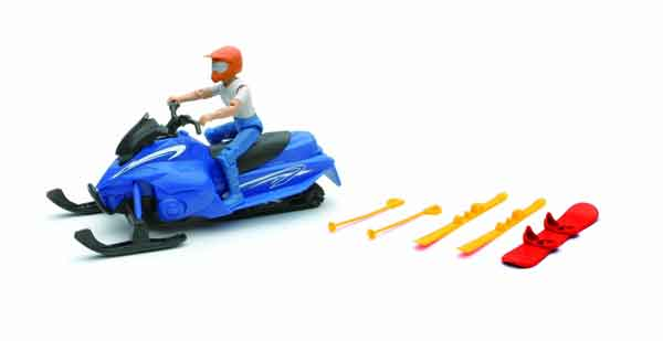 Xtreme Adventure Playset Man with Snowmobile 1:18 by New Ray Diecast Item Number: NR37155-C