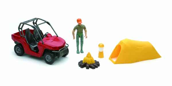 Xtreme Adventure Playset Man with ATV and Tent 1:18 by New Ray Diecast Item Number: NR37155-F