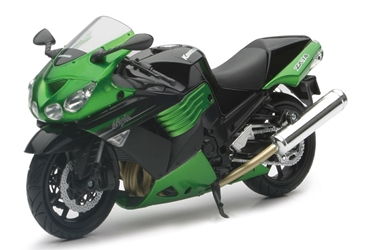 2011 Kawasaki ZX14 Street Bike in Green 1:12 by New Ray Diecast Item Number: NR57433B