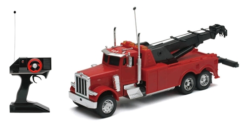 Peterbilt 379 Tow Truck,  Red, Radio Remote Control (1:32)