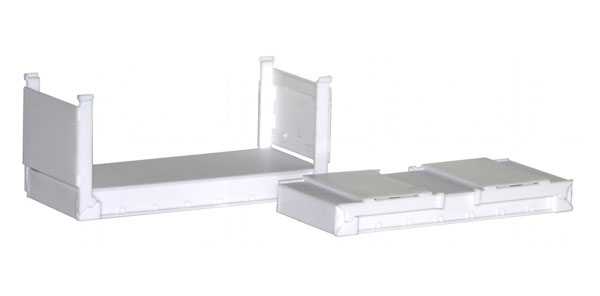 20 Stackable Flat Containers (1:87), Promotex Item Number PRX005460