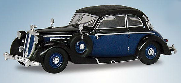 1939 Horch 930V Cabriolet in Black with Blue (1:87), RICKO Item Number RICKO38580