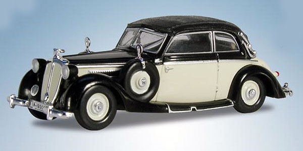 1939 Horch 930V Cabriolet in Black with Ivory (1:87), RICKO, Item Number RICKO38680