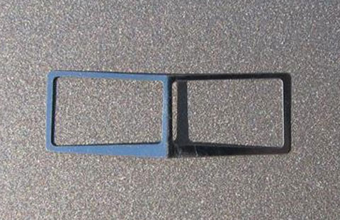 Chrome Windshield Trim Fits DCP Peterbilt 379 and (1:64)
