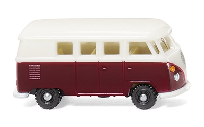 Volkswagen T1 Bus in Wine Red and White (1:160), WIKING, Item Number WIK093202