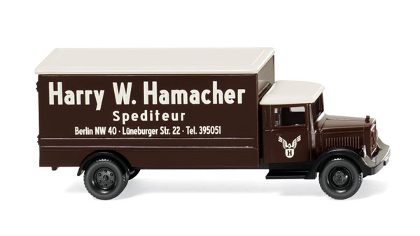 Spedition Hamacher - Mercedes-Benz L 2500 Box Truck - N-Scale (1:160), WIKING, Item Number WIK094407