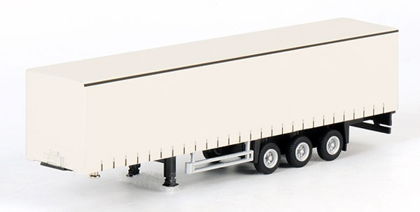3-axle Curtainside Trailer - White Line (1:87)