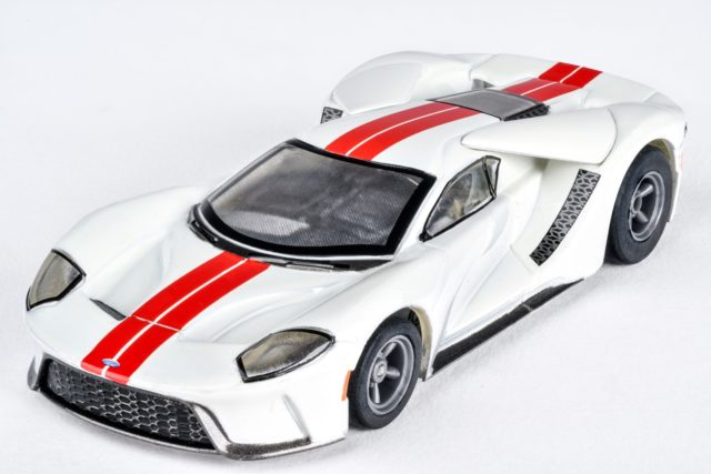 Ford GT White/Red by AFX Slot Car Racing item number: AFX22021