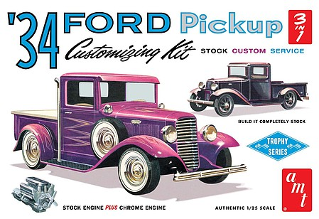 '34 Ford Pickup 1:25 by AMT Plastic Model Kits item number: AMT1120