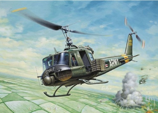 UH1B Huey Helicopter 1:72 by Italeri Models Item Number: ITA40