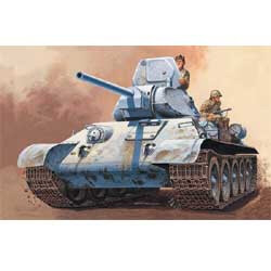 T-34/76 RUSSIAN TANK 1:72 by Italeri Models item number: ITA7008