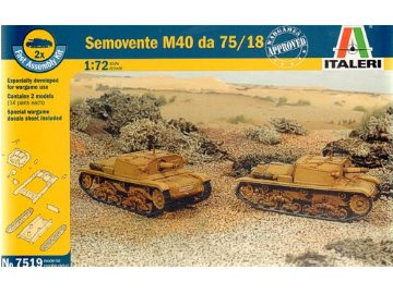 Semovente M40 da 75/18 1:72 by Italeri Models Item Number: ITA7519