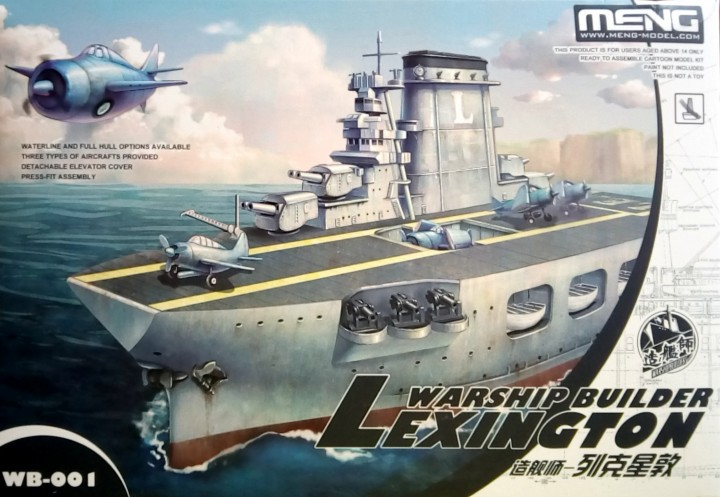 Warship Builder Lexington by Meng Models item number: MGMWB001