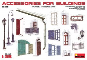 Accessories for Bldgs 1:35 by Mini Art Models Item Number MIA35585