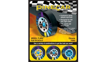 Chrome Wheel Flare, Pine Car Item Number PCR4063
