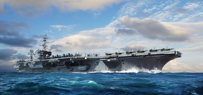 USS Constellation CV-64 1:700 by Trumpeter