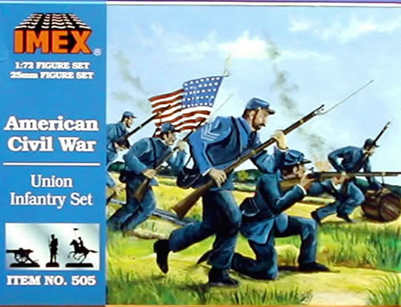 Union Infantry (1:72), IMEX Item Number IMX505