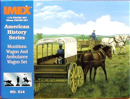 Munitions Wagon & Ambul (1:72), IMEX Item Number IMX514
