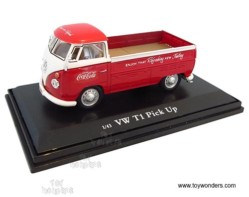 ola - Volkswagen T1 Pick Up (1962, 1:43 scale diecast model car, Red, Motor City Coca Item Number 440546