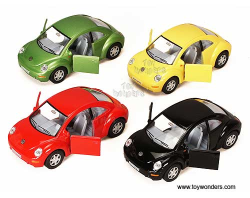 Volkswagen New Beetle Hard Top (1:32 scale diecast model car, Assorted Colors.)