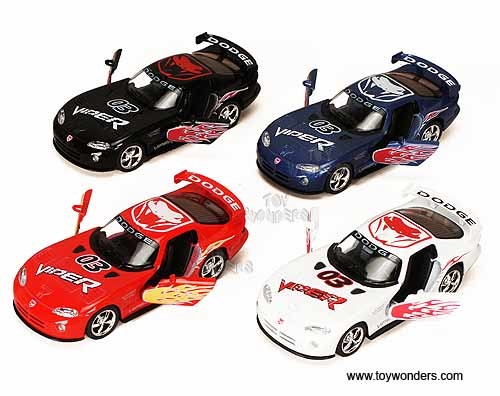 Dodge Viper Race Car #03 (1:36 scale diecast model car, Assorted Colors.)