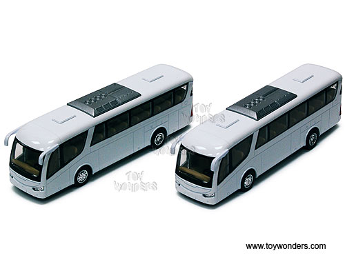 "Coach Bus (7"" diecast model car, White) - sold individually, Kinsmart Item Number 7101DW"