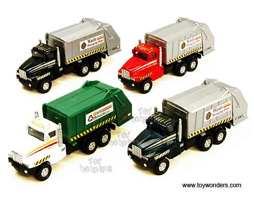 "Garbage Truck (6"" diecast model car, Assorted Colors.) - Price shown is for one truck,  Item Number 9911DG"