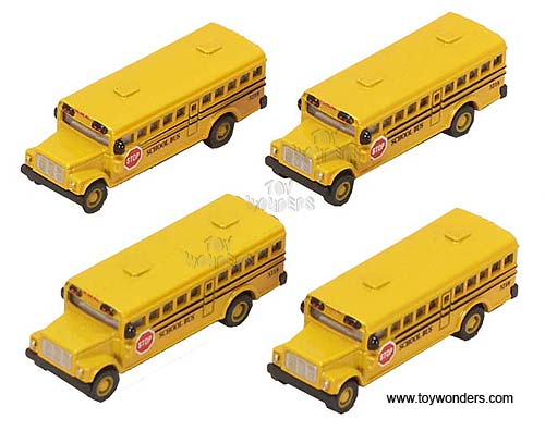 "School Bus (2.5"", Yellow), Kinsmart Item Number 2523D"