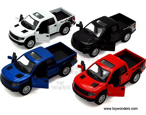 Ford F-150 SVT Raptor SuperCrew Pickup w/ Sunroof (2013, 1/46 scale diecast model car, Asstd.), Kinsmart Item Number 5365D