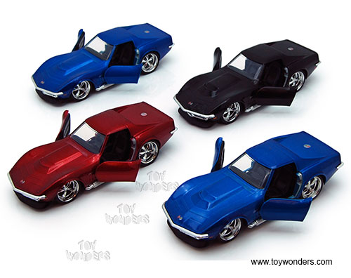 Chevy Corvette Stingray ZL-1 Hard Top (1969, 1:32 scale diecast model car, Asstd.), Jada Toys Bigtime Muscle Item Number 96925