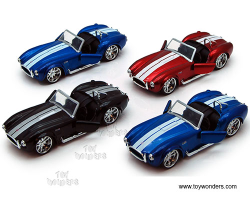 Shelby Cobra 427 S/C Convertible (1965, 1:32 scale diecast model car,, Jada Toys Bigtime Muscle Item Number 96937