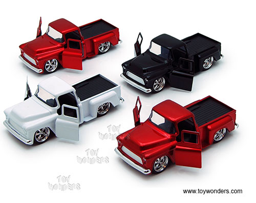 Chevy Stepside Pickup (1955, 1:32 scale diecast model car, Asstd.)