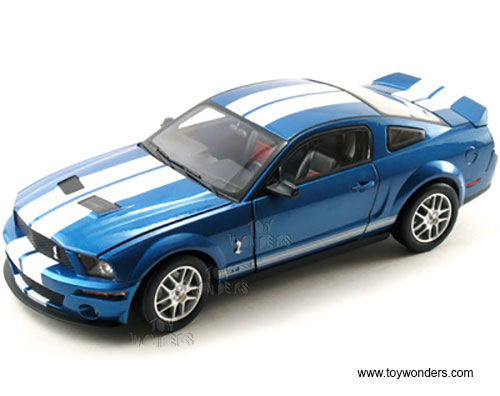 Shelby Shelby Hard Top (2007, (1:18) scale diecast model car, Blue w/ White Stripes), Shelby Item Number SC278BU