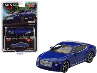 2018 Bentley Continental GT Sequin Blue Metallic Limited Edition to 1,200 pieces Worldwide 1/64