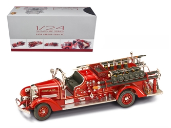 1938 Ahrens Fox VC Fire Engine Truck Red with Accessories (1:24), Road Signature Item Number ROS20178R