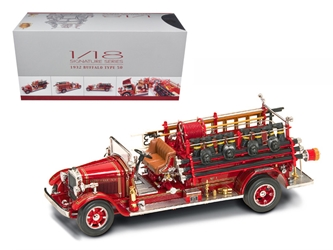 1932 Buffalo Type 50 Fire Engine Truck Red with Accessories 1/24