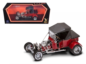 1923 Ford T-Bucket Soft Top Burgundy (1:18), Road Signature Item Number ROS92829R