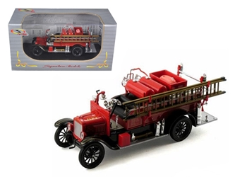 1926 Ford Model T Fire Engine Red/Black 1/32 Diecast Model Car by Signature Models, Signature Models Item Number 32313R/BK