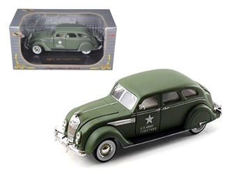 1936 Chrysler Airflow Army Green (1:32), Signature Models Item Number 32519GRN