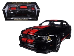 2013 Ford Mustang Shelby Cobra GT500 SVT Black with Red Stripes 1/18