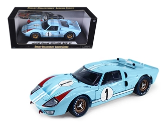 1966 Ford GT 40 MK II RHD (Right Hand Drive) #1 Light Blue Miles - Hulme Le Mans 1/18