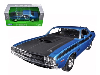 1970 Dodge Challenger T/A Blue with Black Hood 1/24-1/27