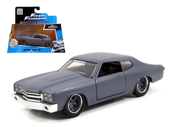 "Doms Chevrolet Chevelle SS Primer Grey ""Fast & Furious"" Movie 1/32 Diecast Model Car by Jada, Jada Item Number 97379"