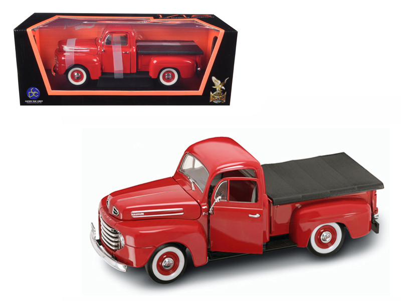 1948 Ford F-1 Pickup Truck with Bed Cover Red 1/18