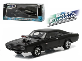 "Doms 1970 Dodge Charger R/T ""Fast and Furious-Fast Five"" Movie (2011) 1/43 Diecast Model Car by Greenlight, Greenlight Item Number GLC86228"