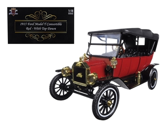 1915 Ford Model T Soft Top Red 1/18 Diecast Model Car by Motorcity Classics, Motorcity Classics, Item Number 88133