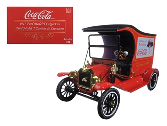 "1917 Ford Model T Cargo Van Coca-Cola ""Drink Delicious"" (1:18) , Motorcity Classics Item Number 449804"